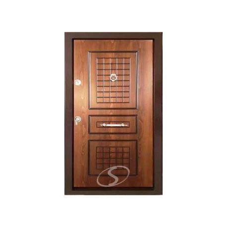 درب ضد سرقت رویه چوب طرح سه قاب