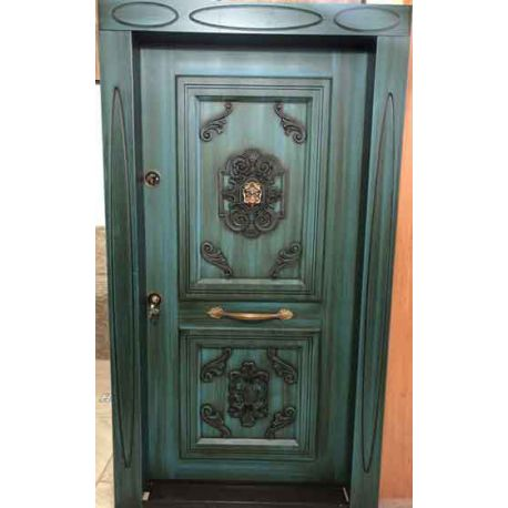 درب ضد سرقت آبی رنگ